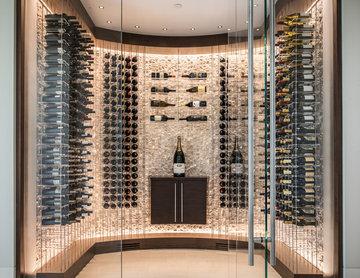 Soft Contemporary Wine Cellar
