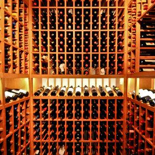 Inspiration for a medium sized coastal wine cellar in San Diego.