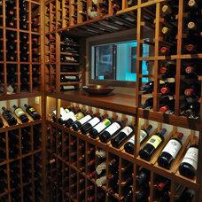 Modern Wine Cellar by Sustainable Wine Cellars, LLC