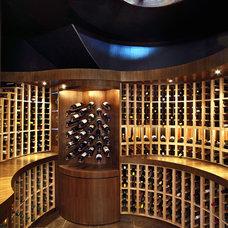 Modern Wine Cellar by MQ Architecture & Design, LLC
