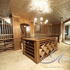Traditional Wine Cellar by Genuwine Cellars