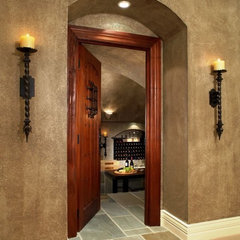 eclectic wine cellar by Sean D. Gardella & Associates, LLC