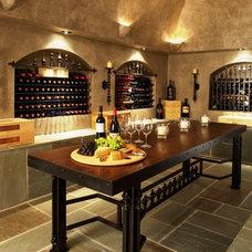 Eclectic Wine Cellar by Sean D. Gardella & Associates, LLC