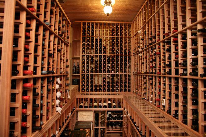 Mediterranean Wine Cellar by Devonshire Custom Homes
