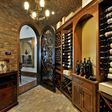 Traditional Wine Cellar by Interior Selections Austin