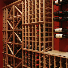 traditional wine cellar by The Manlin Glidewell Group LLC