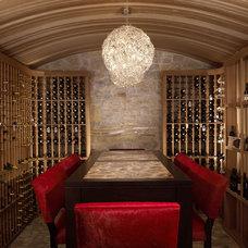 Eclectic Wine Cellar by Amy Noel Design