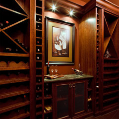 traditional wine cellar by Maillot Homes