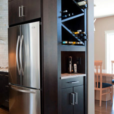 Modern Wine Cellar by Deslaurier Custom Cabinets