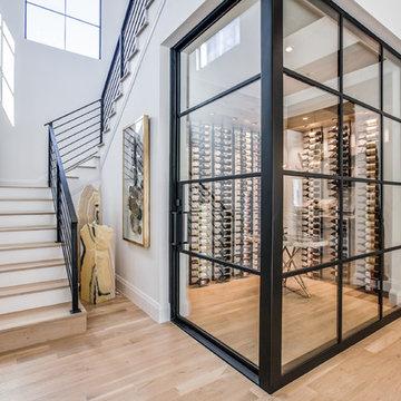 Steel and Glass Wine Room