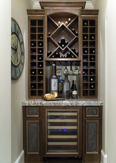 Traditional Wine Cellar by Rockwood Cabinetry