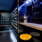 Open Plan Kitchen - Contemporary - Wine Cellar - Sydney - by Impala Kitchens and Bathrooms