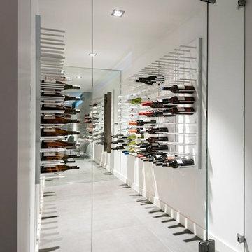 Stylish wine racks - STACT wine wall system
