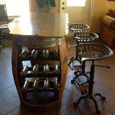 Contemporary Wine Cellar by Castle Rock Construction