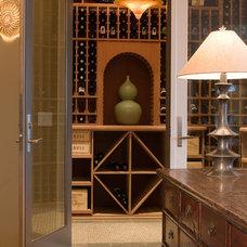Contemporary Wine Cellar by Nora Schneider Interior Design