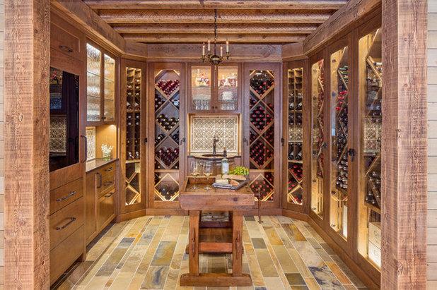 Rustic Wine Cellar by TreHus Architects+Interior Designers+Builders