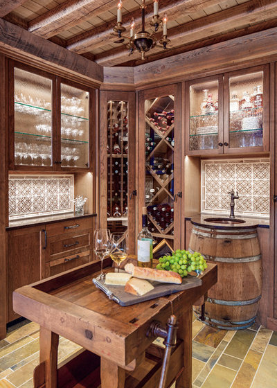 Traditional Wine Cellar by TreHus Architects+Interior Designers+Builders