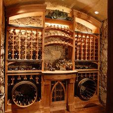 Contemporary Wine Cellar by CD Construction, Inc.