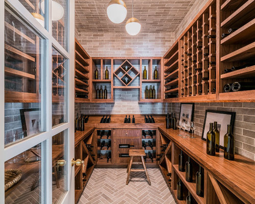 home wine cellar design. Inspiration for a huge farmhouse brick floor and beige wine cellar  remodel in Los Angeles 10 All Time Favorite Wine Cellar Ideas Designs Houzz
