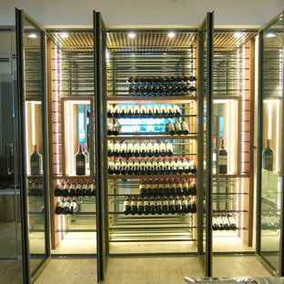 Surfside Wine Wall Transitional