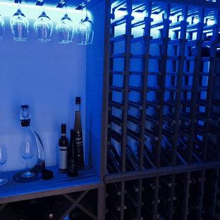 Diseño de bodega clásica con botelleros