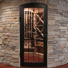 Traditional Wine Cellar by Buckeye Basements, Inc.