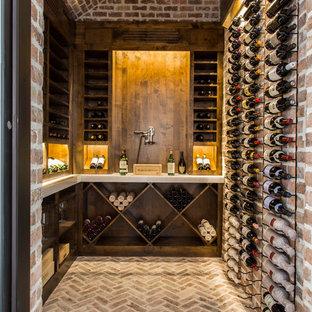 Wine cellar - transitional wine cellar idea in Houston