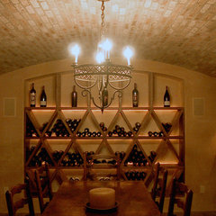 mediterranean wine cellar by Taylor Lombardo Architects