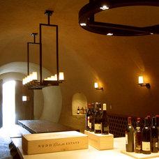 Mediterranean Wine Cellar by Taylor Lombardo Architects