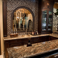 Traditional Wine Cellar by Texana Builders