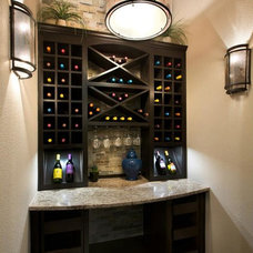 Contemporary Wine Cellar by Jimmy Jacobs Homes