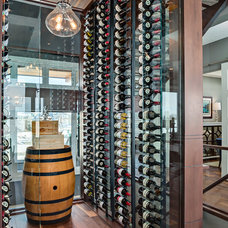 Transitional Wine Cellar by Trickle Creek Custom Homes