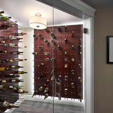 Transitional Wine Cellar by Infiniti Master Builder
