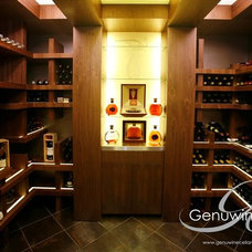 Contemporary Wine Cellar by Genuwine Cellars
