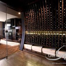 Modern Wine Cellar by Genuwine Cellars