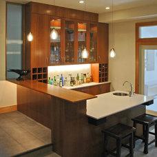 Contemporary Wine Cellar by BARRETT STUDIO architects