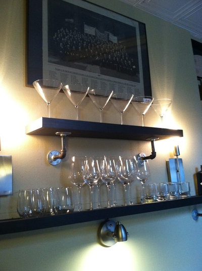 Cool shelves you can make with stuff from the garage for Garage wine cellar