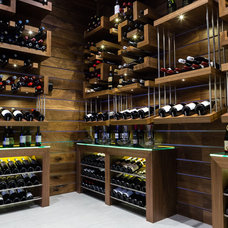 Contemporary Wine Cellar by Evolution Wine Rooms
