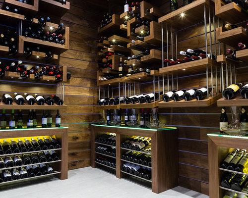 wine lighting. Large Trendy Wine Cellar Photo In Other With Display Racks Lighting E