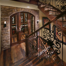 mediterranean wine cellar by Celebrity Communities