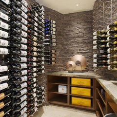 contemporary wine cellar by The Foxx Company