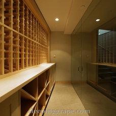 Modern Wine Cellar by Rollin Fox, Sleeping Grape Wine Cellars