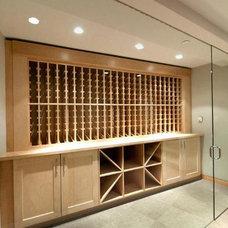 Contemporary Wine Cellar by World Mosaic (BC) Ltd.