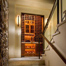 Contemporary Wine Cellar by Tomaro Design Group