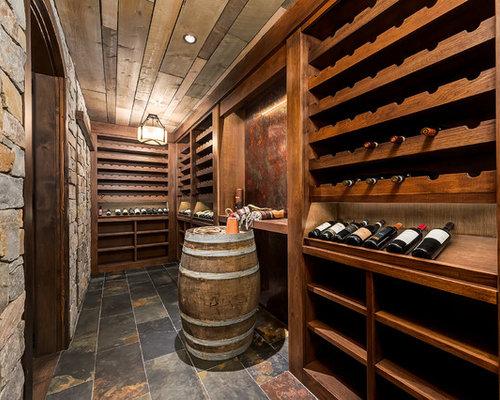 Premium wine cellar design ideas renovations photos for Wine cellar flooring options