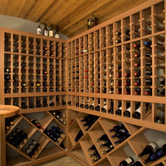contemporary wine cellar by New Energy Works Timberframers