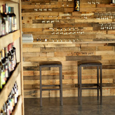 Industrial Wine Cellar by Brett Marlo Design Build