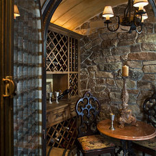 Traditional Wine Cellar by The Woodshop of Avon