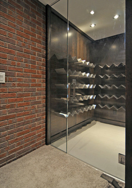 Contemporary Wine Cellar by Jordan Lotoski