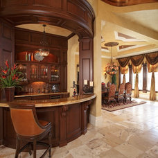 Traditional Wine Cellar by Busby Cabinets